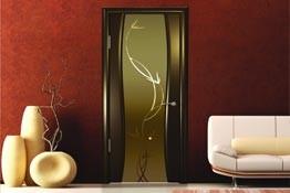 Стеклянные двери триплекс